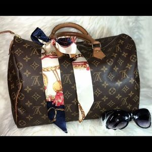 Louis Vuitton Speedy 35 Monogram Canvas Bag AUTH